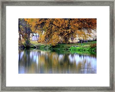Quiet Autumn Day Framed Print by Carol Groenen