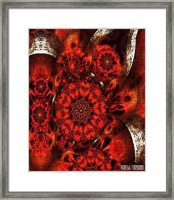 Framed Print featuring the mixed media Quiet Intensity by Ray Tapajna