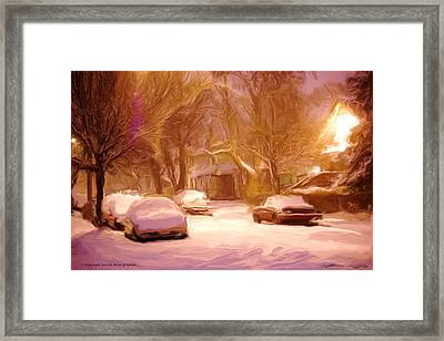 Quiet January Night Framed Print