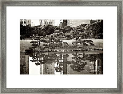 Quiet Moment In Tokyo Framed Print