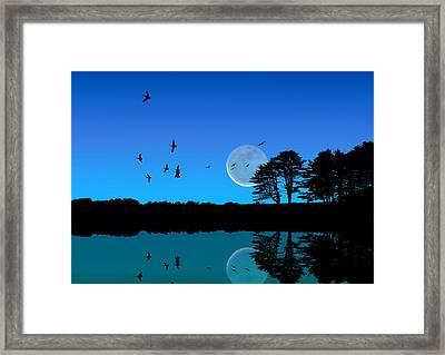 Quiet Moonrise Framed Print