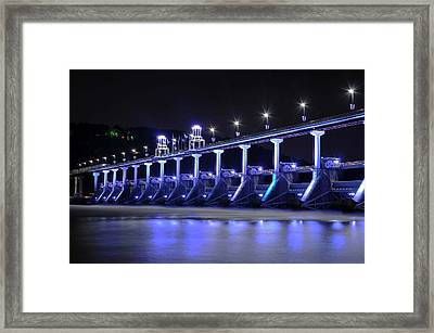Framed Print featuring the photograph Quiet Night On The River by Renee Hardison