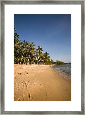 Quiet Ong Lang Beach Is Unspoiled Framed Print by Michael S. Lewis