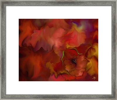 Quiet Passion Framed Print by Mathilde Vhargon