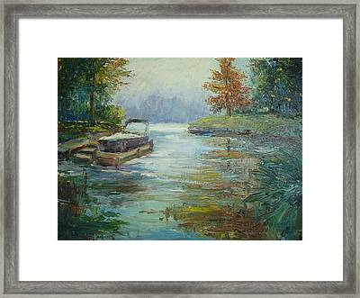 Quiet Place Framed Print by Holly LaDue Ulrich