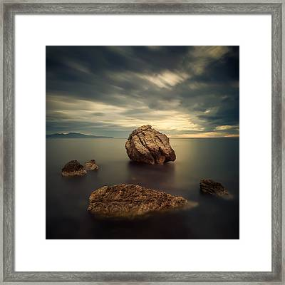 Quiet Rocks Framed Print