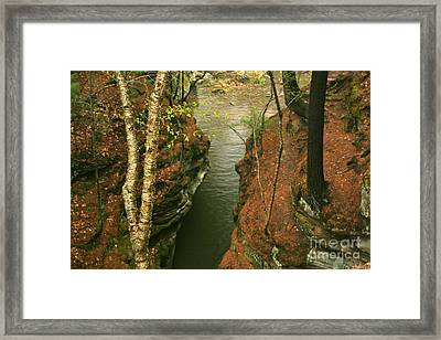 Framed Print featuring the photograph Quiet Rocky Gorge by Joan McArthur