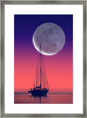 Quiet Sailboat Framed Print