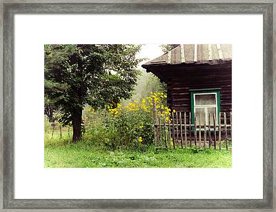Quiet Setting. Rural Russia Framed Print by Jenny Rainbow