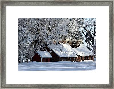 Quiet Snow Framed Print by Gary Gunderson