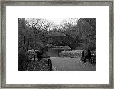 Quiet Time In Nyc Framed Print by Kenneth Drylie