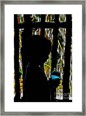 Quiet Time With My Biberon Framed Print
