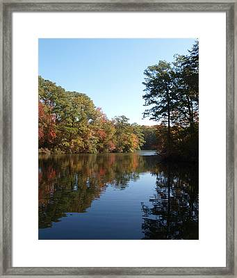 Quiet Water Framed Print by Larry Krussel