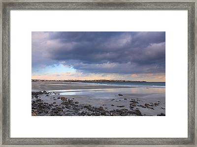 Quiet Winter Day At York Beach Framed Print by John Burk