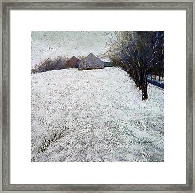 Quiet Winter Day In Bucks County Framed Print by Bob Richey