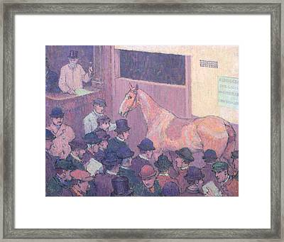 Quiet With All Road Nuisances Framed Print by Robert Polhill Bevan