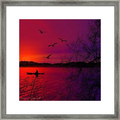 Quietude Framed Print by Lourry Legarde
