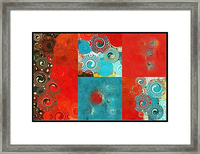 Quilt Seeds Mosaic Framed Print by Bonnie Bruno