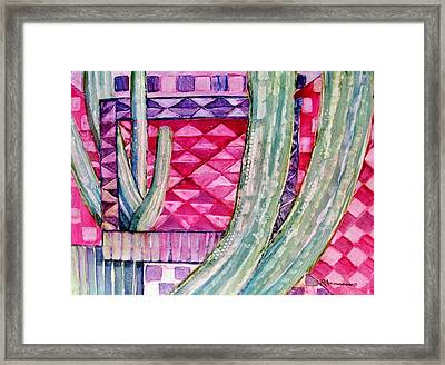 Quilted Sunset Framed Print by Regina Ammerman