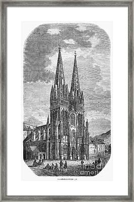 Quimper: Cathedral, 1856 Framed Print