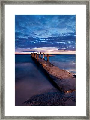 Quindalup Jetty Framed Print by Heather Thorning