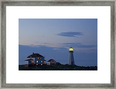 Quirpon Island Lighthouse, Newfoundland Framed Print by John Sylvester