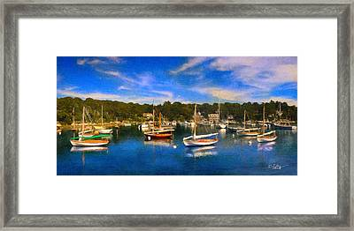 Quisset Harbor Framed Print