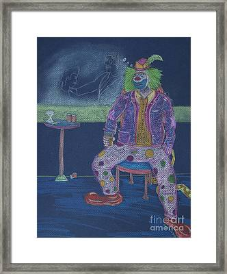 Quit Clowning Around Framed Print by Michael Mooney