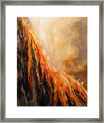 Quite Eruption Framed Print
