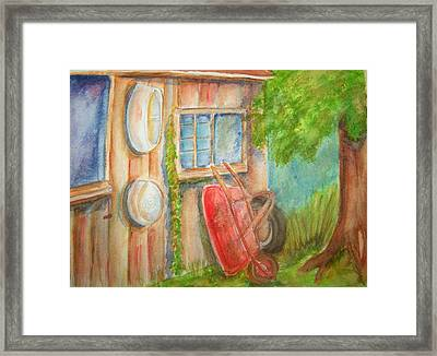 Quitin Time Framed Print by Belinda Lawson
