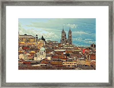 Quito Cathedral And Sorroundings Framed Print
