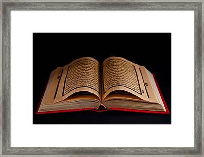 Quran Framed Print by Tom Gowanlock