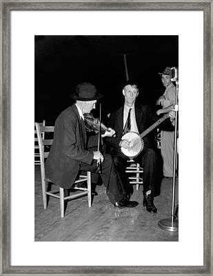 R. J. Boyd, Playing Fiddle, And Millard Framed Print by Everett