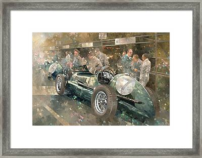 R. Parnell's Maserati  Framed Print by Peter Miller