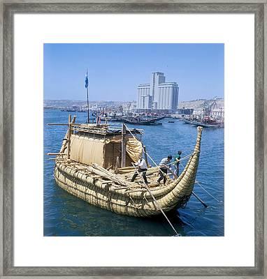 Ra-2 Papyrus Boat, Morocco Framed Print by Ria Novosti