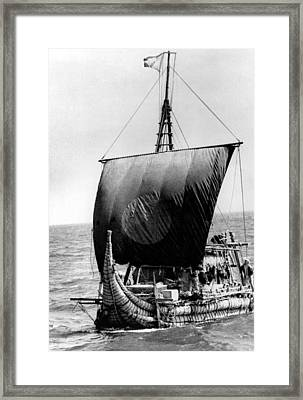 Ra II, Ship Headed By Thor Heyerdahl Framed Print by Everett
