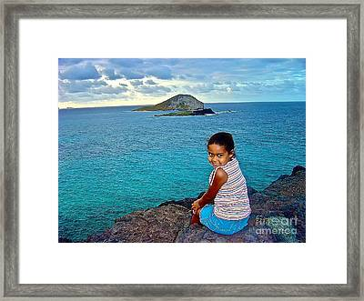 Rabbit Island Over-watched Framed Print by Joe Finney