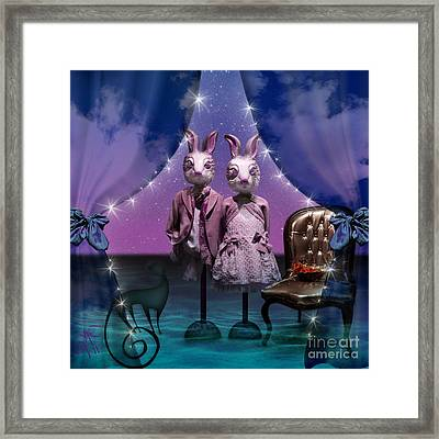 Rabbits In Love Framed Print