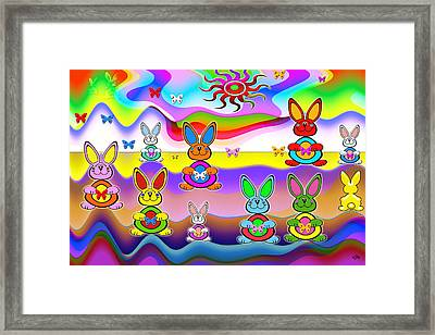 Rabbits Framed Print by Victoria Regueira
