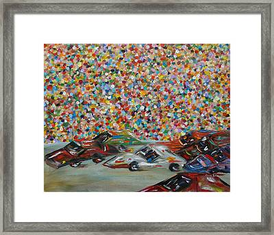 Race Day Framed Print by Judith Rhue