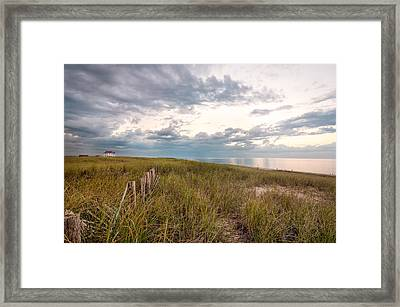 Race Point At Sunset Framed Print by Linda Pulvermacher