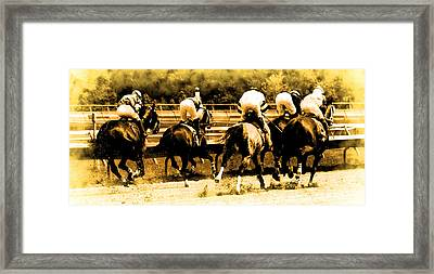Framed Print featuring the photograph Race To The Finish Line by Alice Gipson