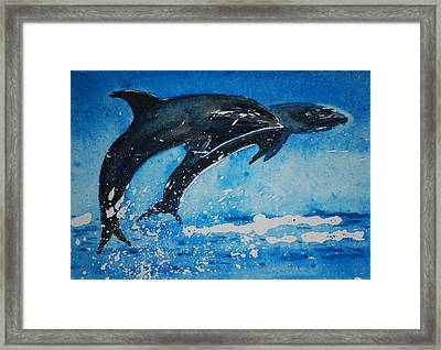 Framed Print featuring the painting Race You.......miniature                              by Lynn Hughes