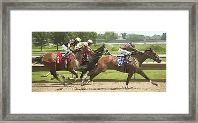 Framed Print featuring the photograph Racetrack Views by Alice Gipson