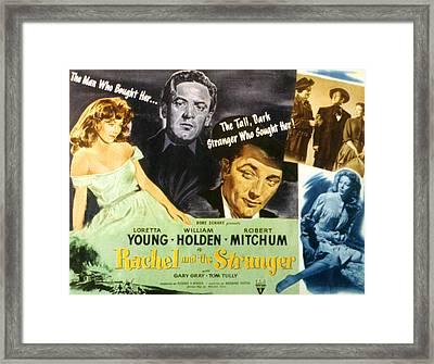 Rachel And The Stranger, Loretta Young Framed Print by Everett