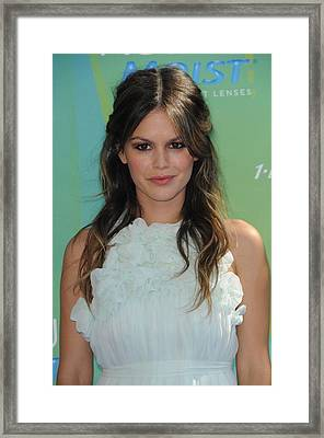 Rachel Bilson At Arrivals For 2011 Teen Framed Print by Everett
