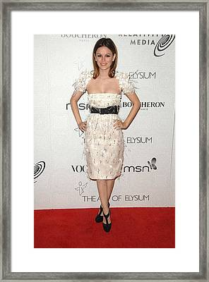 Rachel Bilson Wearing A Chanel Dress Framed Print