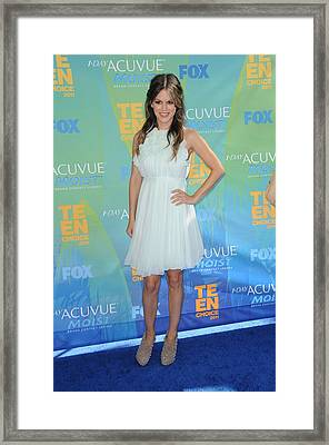 Rachel Bilson Wearing A Chloe Dress Framed Print by Everett