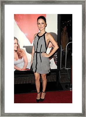 Rachel Bilson Wearing A Dress Framed Print