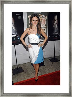 Rachel Bilson Wearing An Abaete Dress Framed Print by Everett